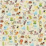 Alphabet Gift Wrap Flat Sheet 24'' X 6'