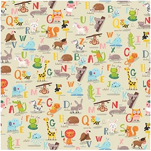 Alphabet Gift Wrap Flat Sheet 24'' X 6' by Premium Gift Wrap