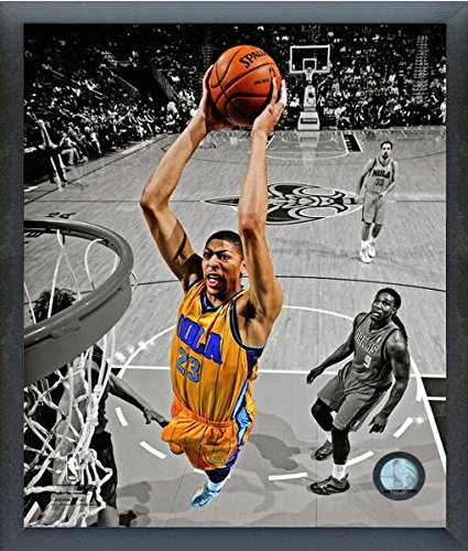 Anthony Davis New Orleans Pelicans NBAスポットライトアクション写真(サイズ: 12 cm x 15 cm )フレーム   B017HRAICS