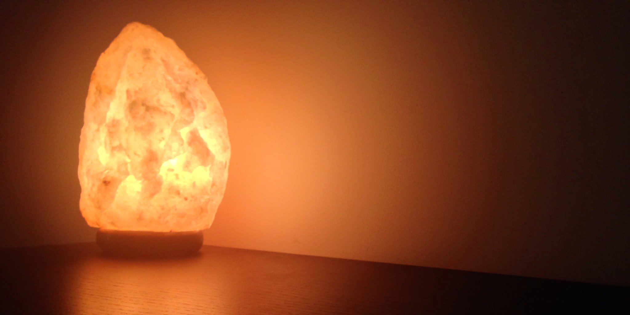 Natural Himalayan Rock Salt Lamp 6-7 lbs with Wood Base,UL Approved Electric Wire, with Dimmer & Bulb