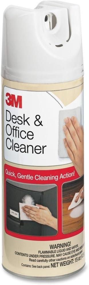 3M 573 Desk/Office Cleaner, Foaming Spray, 15 oz.