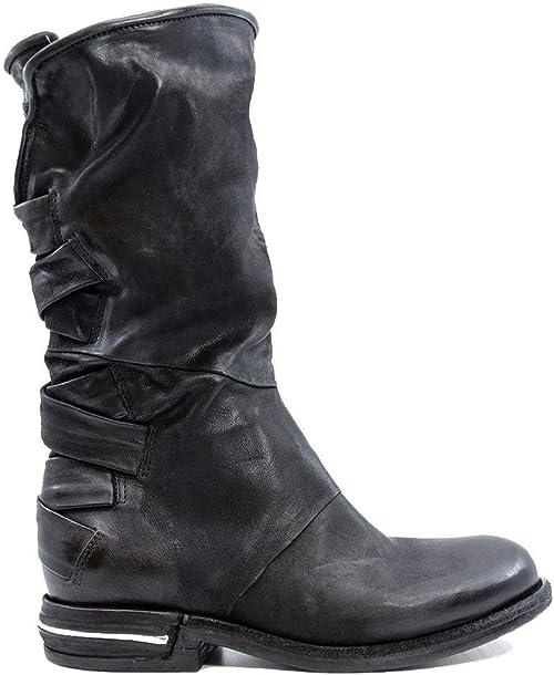 AS 98 516311 Damen Stiefel aus schwarzem Leder