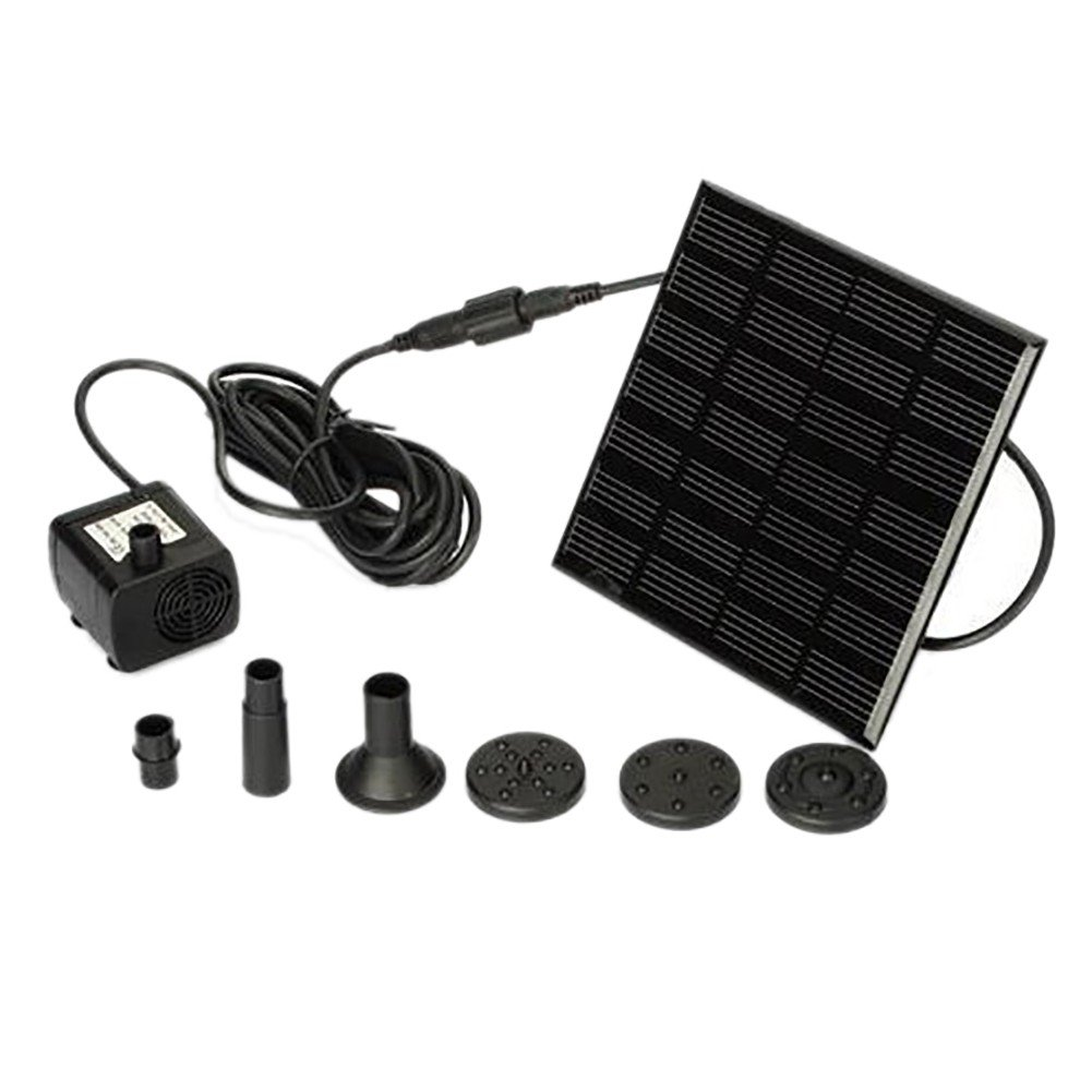 Handfly Solar Fountain for Birdbath Solar Fountain Pump Outdoor Solar Water Pump Solar Powered Fountain Pump Kit for Pond Bird Bath Yard Garden Aquarium
