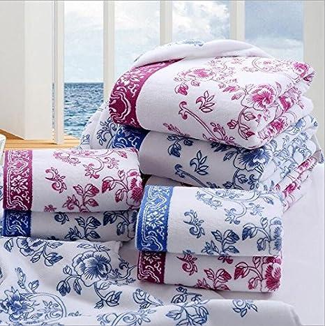Patrón baño Euro floral con estilo cómodo de toallas 100% algodón suave de la playa