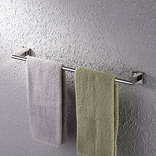 - KES A2200 Bathroom Single Towel Bar Wall Mount, Polished Finish, SUS304 Stainless Steel