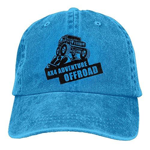2e473bba7 Wons Adult Offroad Adventure Cotton Washed Denim Leisure Caps Adjustable  RoyalBlue