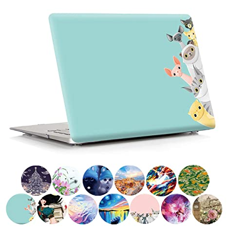 half off e02e7 764df MacBook Air 13 inch Case A1369/A1466 PapyHall Cute Animals Series MacBook  Protective Plastic Hard Shell Cover for MacBook Air 13 inch Model ...