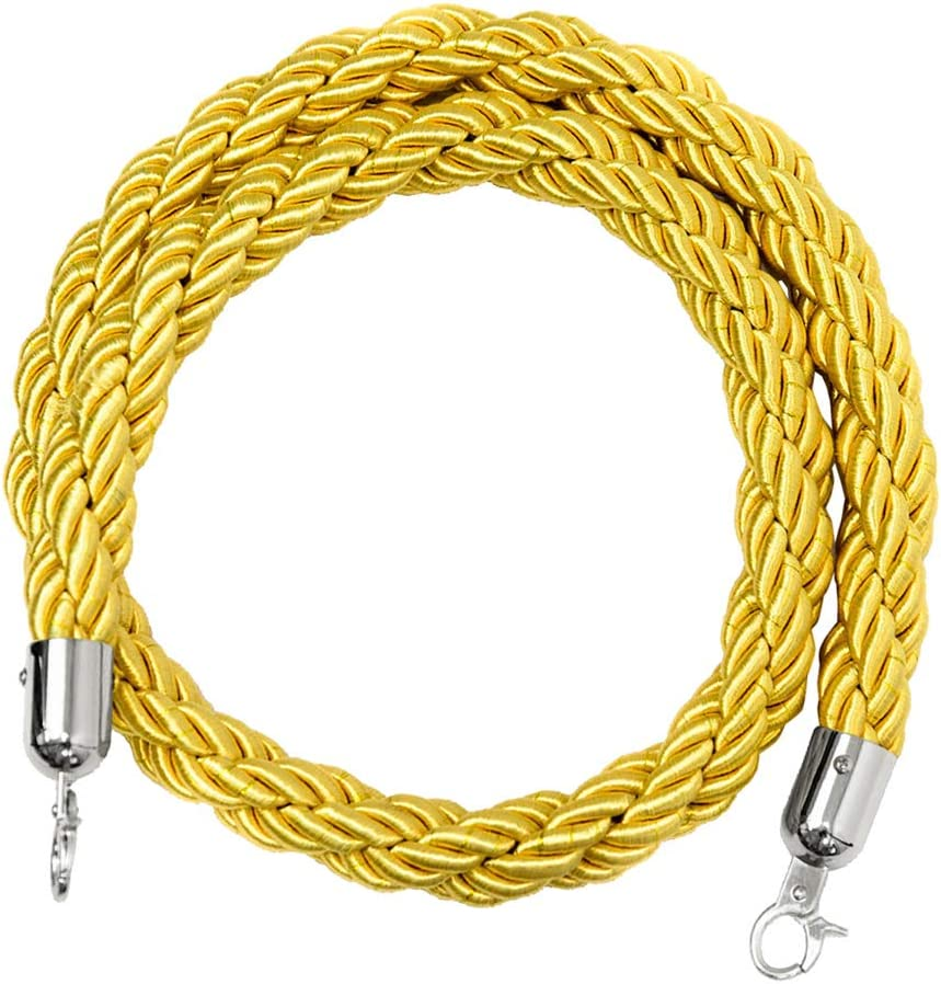 2 Colores Opcionales 6.6ft Shiwaki Stanchion Rope Queue Barrier Ropes 9.8ft