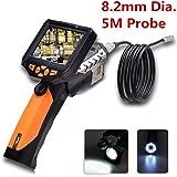 """Flylinktech Caméra d'Inspection Etanche HD 720P Caméra Endoscope USB Endoscope Numerique 3.5"""" avec 8,2mm Réglables 6 LED Blanches Endoscope Inspection Tube 5M"""