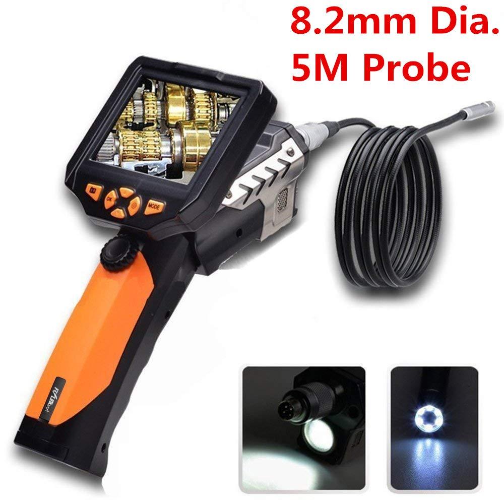 Flylinktech Camé ra d'Inspection Etanche HD 720P Camé ra Endoscope USB Endoscope Numerique 3.5' avec 8, 2mm Ré glables 6 LED Blanches Endoscope Inspection Tube 5M 2mm Réglables 6 LED Blanches Endoscope Inspection Tube 5M