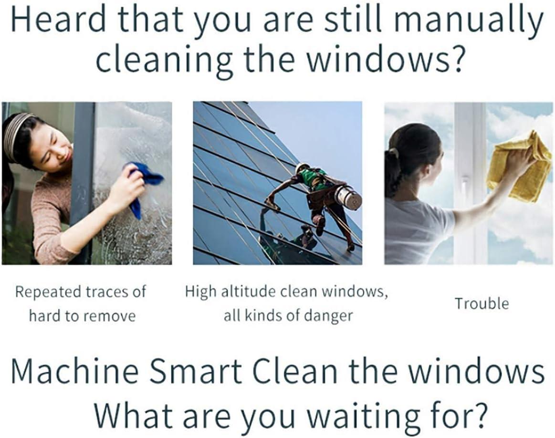 Nettoyage verre intelligent aspiration robot de fenêtre de robot télécommande propre pour fenêtres table plafond plafond extérieur intérieur,D\'or Gold