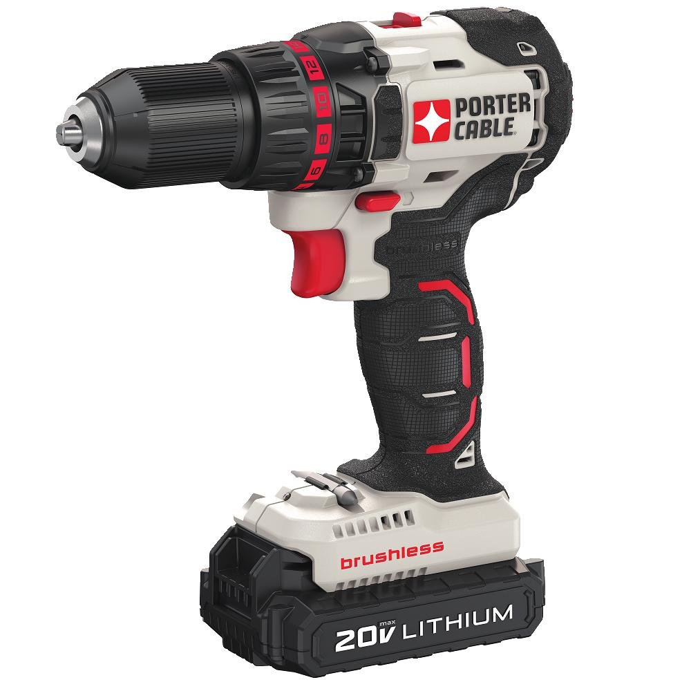 PORTER-CABLE 20V MAX Cordless Drill Driver, Brushless, Tool Only PCC608LB