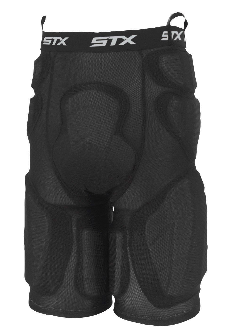 STXデラックスパッド入りラクロスゴールキーパーパンツ B002BB0GXM ブラック Medium