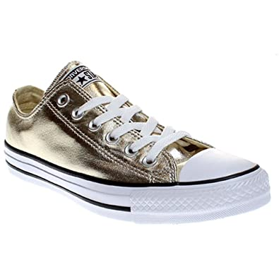 ef50af1df164 Converse Unisex-Erwachsene Seasonal Metallic Sneaker Mehrfarbig (Light  Gold White Black)