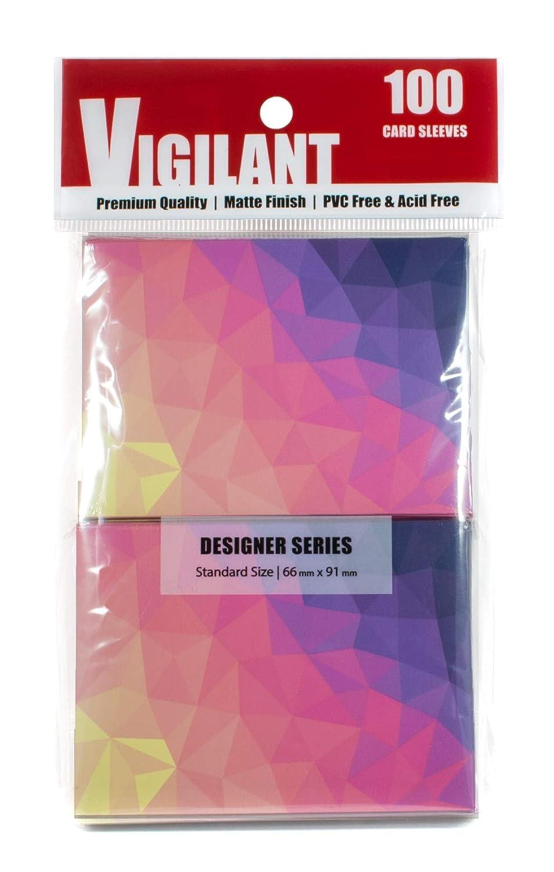 Vigilant Card Sleeves & Deck Protectors, 100 Card Sleeves, Standard Size, Premium Matte Finish, Designer Art Print (Dusk)