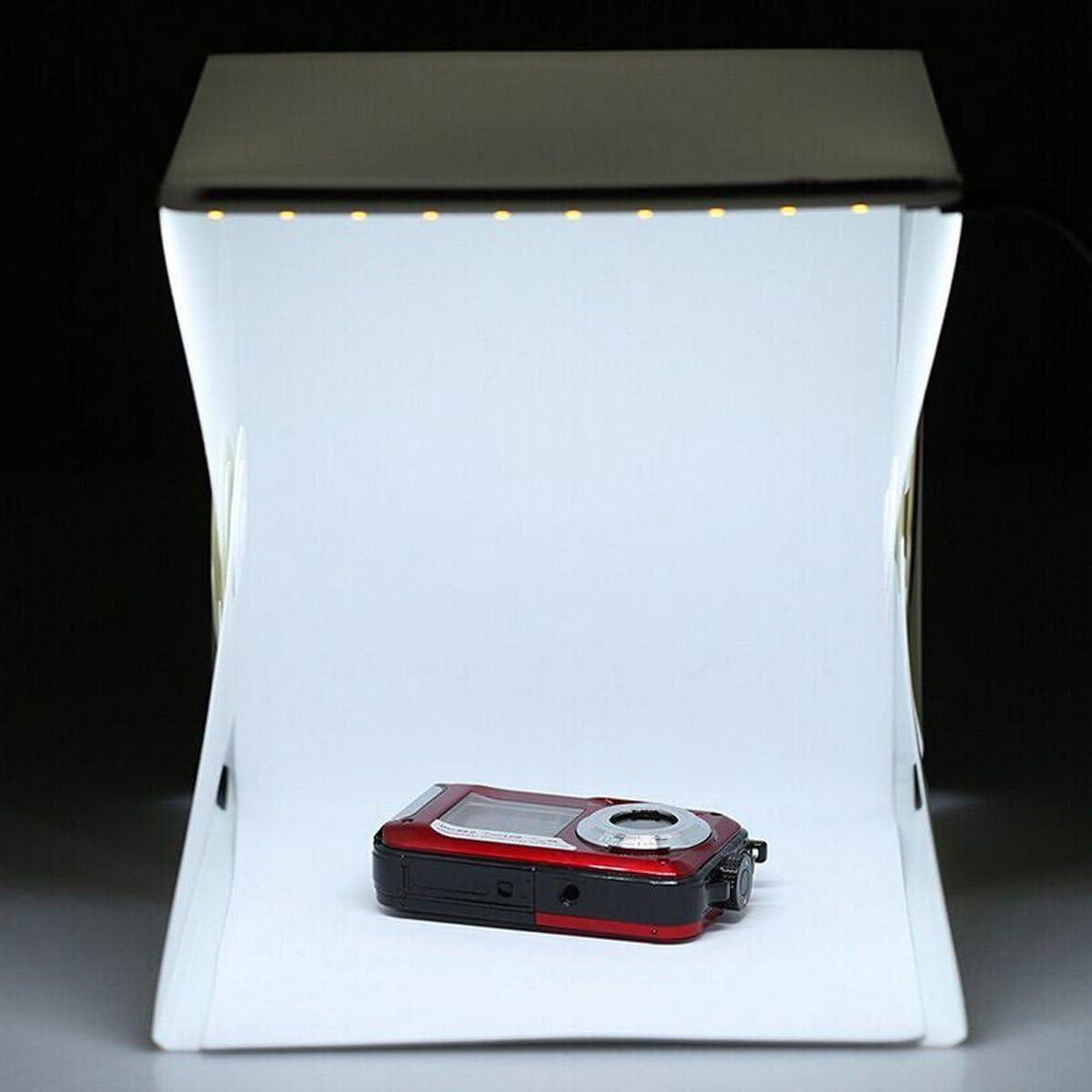 SOLEDI White Distinctive Mini Photography Box Photo Studio Lighting Light Room Foldable Mini Light Room 9 Camera Cube Creative