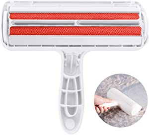 Pet Hair Remover Roller - Dog & Cat Fur Remover with Self-Cleaning Base - Efficient Double Sided Animal Hair Removal Tool - Perfect for Clothing, Furniture, Couch, Carpet, Car Seat