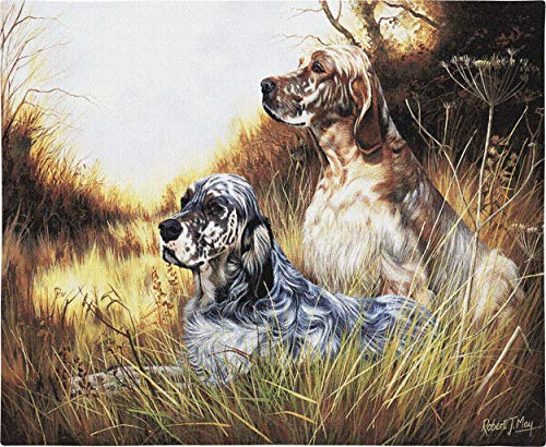 Pure Country Weavers | English Setter Hand Finished European Style Jacquard Woven Wall Tapestry. USA Size 26x34 ()