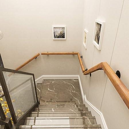 Pasamanos de 30-400 cm para Ancianos Pasillo de la casa para discapacitados Varilla de Soporte de Pared de Madera Maciza Seguridad de Loft Interior Barandillas de Escalera Antideslizantes: Amazon.es: Hogar