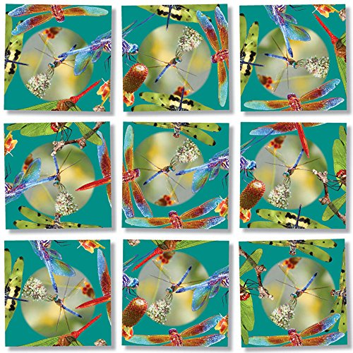 Scramble Squares Dragonflies 9 Piece Challenging Puzzle - Ultimate Brain Teaser and Mind Game for Young and Senior Alike - Engaging and Creative With Beautiful Artwork - By B.Dazzle from B.Dazzle