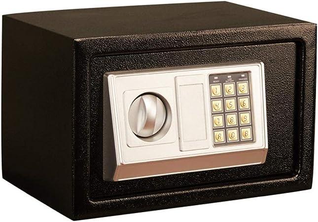 YAzNdom Caja Fuerte Dinero Caja De Seguridad Electrónica De Acero De Dinero En Efectivo Teclas Oficina Proteger con Teclado para Home Office Hotel (Color : Black, Size : 31X20X20CM): Amazon.es: Hogar