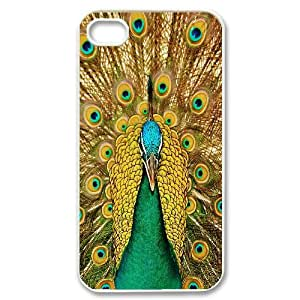 IPhone 4/4s Case Peacock, IPhone 4/4s Case Peacock Hardshell for Girls, [White]