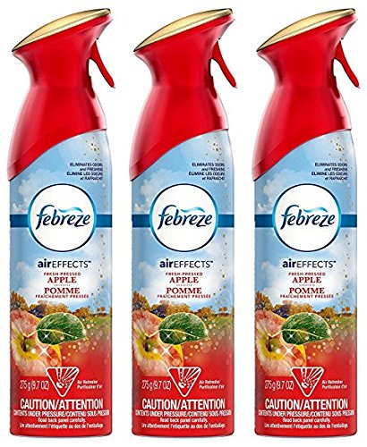 Febreze Air Effects - Fresh-Pressed Apple - Holiday Collection 2016 - Net Wt. 9.7 OZ (275 g) Per Can - Pack of 3