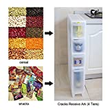 tower washer and dryer - Asvert 4 Tier Storage Cart Slide Out Drawer Tower for Laundry Bedroom Bathroom Kitchen