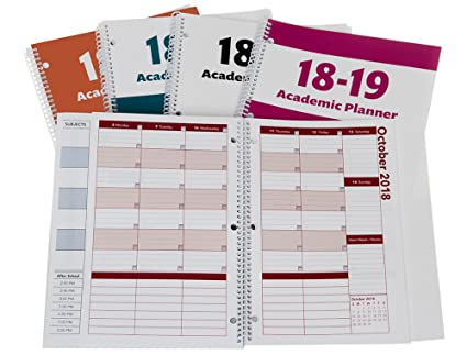 2018-2019 Academic Planner, A Tool for Time Management, Best Weekly & Monthly Student Planner for Keeping Students On Track, On Task, On Time, Size ...