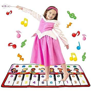Alfombra de Piano, Alfombra de Teclado Táctil Musical 8 Sounds Touch Juego Musical para Bebé Niños: Amazon.es: Juguetes y juegos