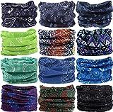 Headband Head Wrap Headwear Sport Sweatband 280 Patterns 12 in 1 Magic Scarf 12PCS 9PCS & 6PCS By VANCROWN (12PCS.Arabesque.1)