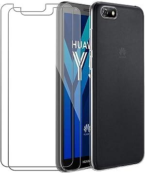 Carcasa Huawei Y5 2018 + 2 Pack HD Protector de Pantalla de ...