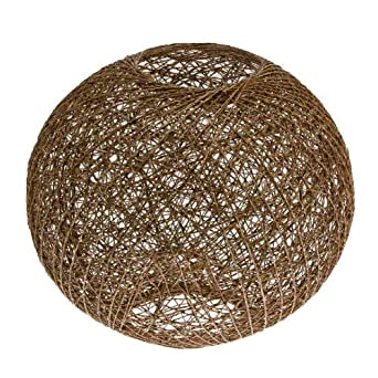 Brown Rattan Ball LAmp Shade: Amazon.co.uk: Lighting