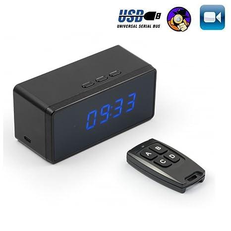 Oumeiou 8GB Full HD 1080P Reloj de cámara oculta con espía IR Grabadora de video remota