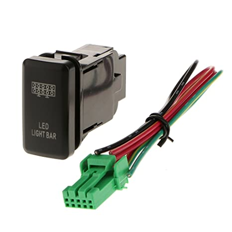 Outstanding Generic Led Light Bar Push Button Switch On Off For Toyota With Wiring Digital Resources Bemuashebarightsorg