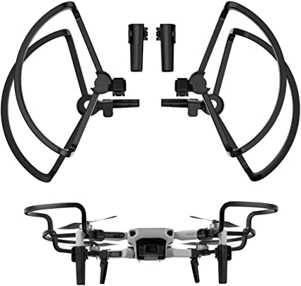 2 in 1 Propellers Guard with Landing Gear Extension Legs Protection Drone Accessories for DJI Mavic Mini Black