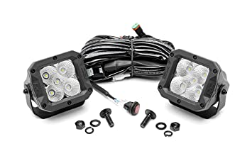 61YMPeQ7HgL._SX355_ amazon com rough country 76903 2 inch x5 series cree led rough country wiring harness at bakdesigns.co