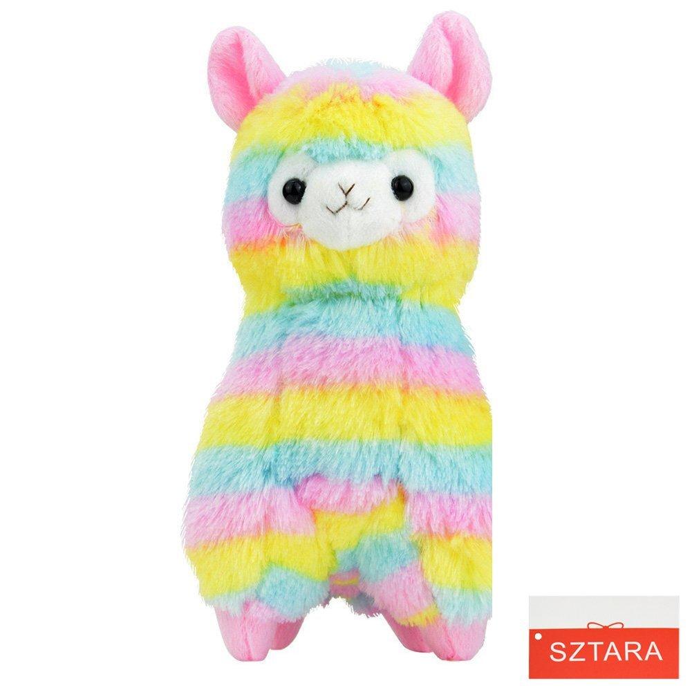 sztara Weihnachten Rainbow Alpaka Plüsch arpakasso alpacasso Lama Weiches Stofftier Plüsch Puppe Spielzeug für Kinder Geburtstag Geschenk Mtarashop TPTAcsyt
