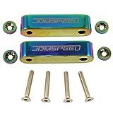 "JDMSPEED Neo Chrome CNC Billet 3/4"" Fit for Hood"