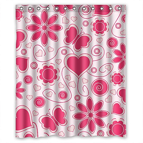Eyeselect The Love Bathroom Curtains Of Polyester Width X Height / 72 X 72 Inches / W H 180 By 180 Cm Decoration Gift For Gf Girls Her Mother Couples. - For Her Woolworths Gifts