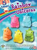 MVS WHOLESALE Pack of 12 x Assorted Colours Of Unicorn Pencil Toppers (32mm) Party Bag Cracker Fillers Toys / Pinata Prizes.