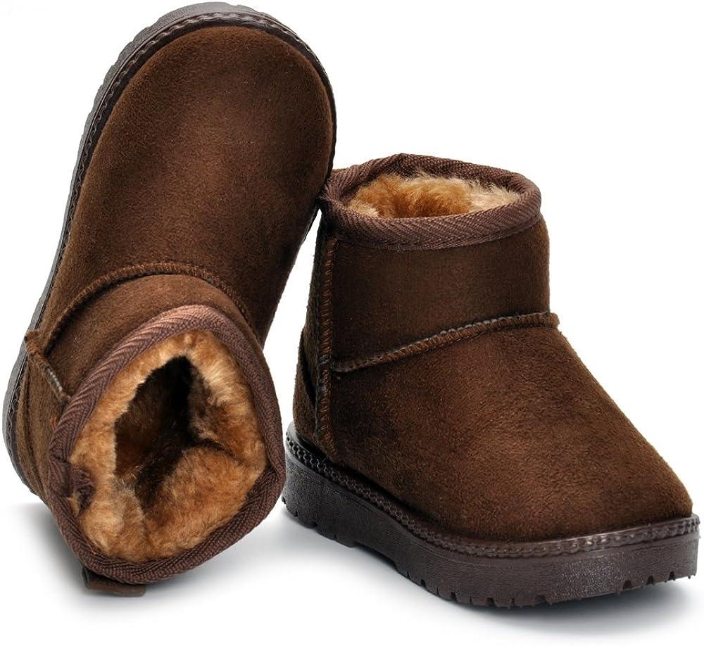 Matt Keely Baby Winter Schuhe Kinder Jungen M/ädchen Schneestiefel Kleinkind Pl/üsch Stiefel