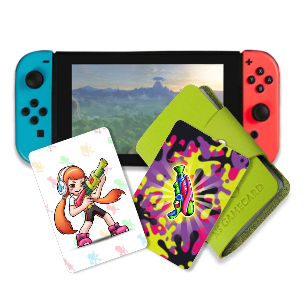 NFC Tag Game Cards for Splatoon 2 Switch- 11pcs Cards with Cards Holder