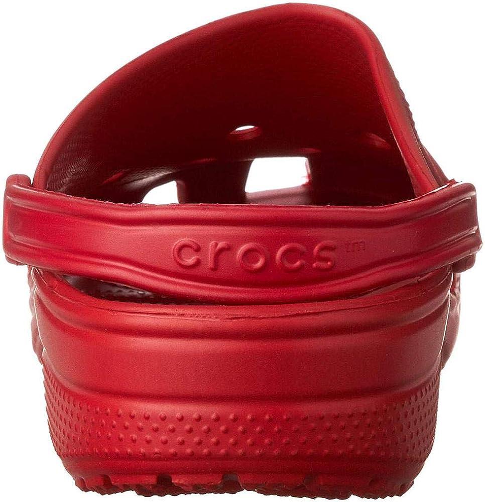 Pepper 6EN Crocs Classic Clog Zuecos Unisex Adulto Rojo 52//53 EU
