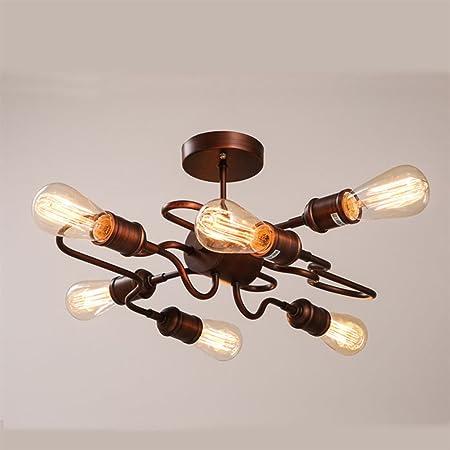 Y S Y Lampe Retro Style Metal Industrial Style Creative Ceiling Lamp