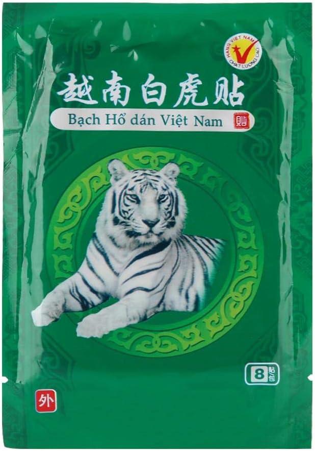 Parche para aliviar el dolor, yeso de bálsamo de tigre blanco, 8pcs Emplastos para aliviar el dolor Parche de alivio del dolor Dolor de espalda médico Alivio para el dolor de cuello