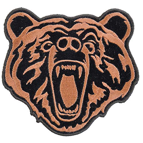 Brown Bear Patch Small - 4x4 inch. Embroidered Iron on ()