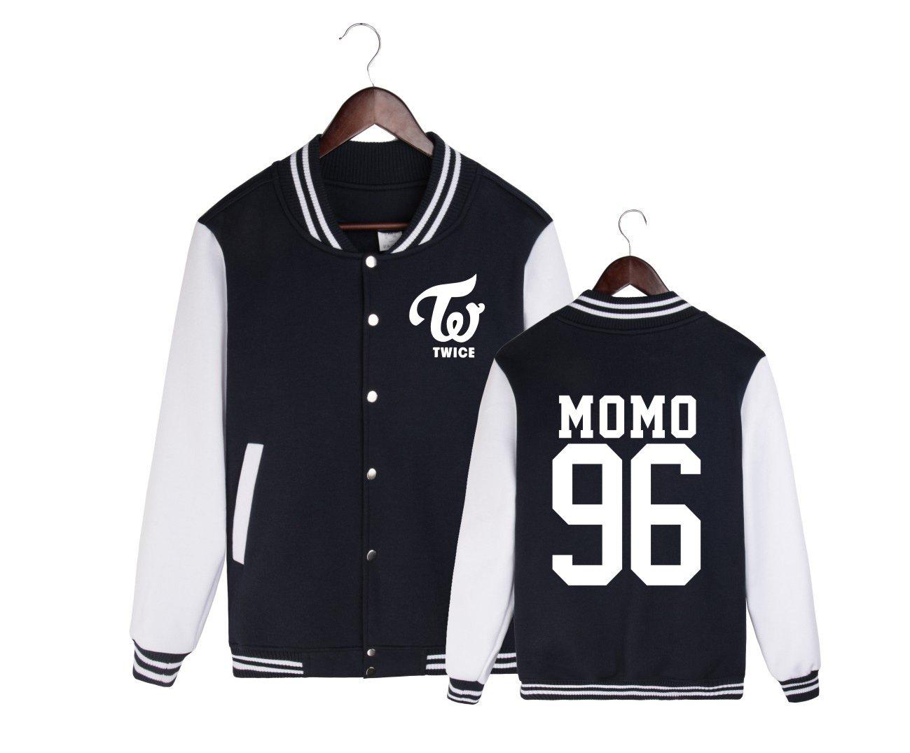 ALLDECOR Kpop Twice MOMO Long Sleeve Hoodie Jacket Coat Unisex Casual Baseball Uniform
