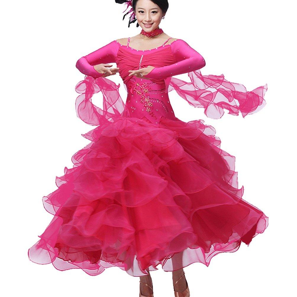Modern Dance Kostüm für Frauen Wettbewerb Kleider Langarm Ballroom Ballroom Ballroom Tanzrock Tango Walzer Tanzkleid Performance Kleidung B07MNG6X9J Bekleidung Bestätigungsfeedback f2b45b