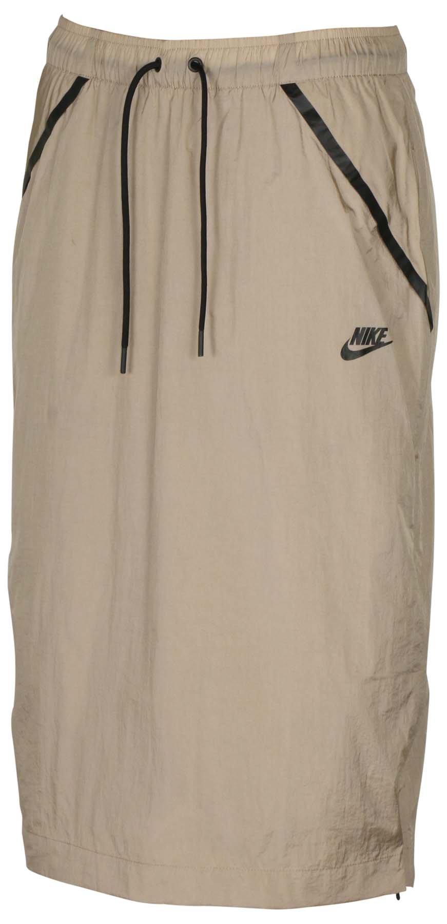 Nike Women's Tech Hypermesh Sportswear Skirt-Khaki-XL